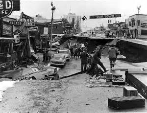 4th Avenue after the 1964 earthquake