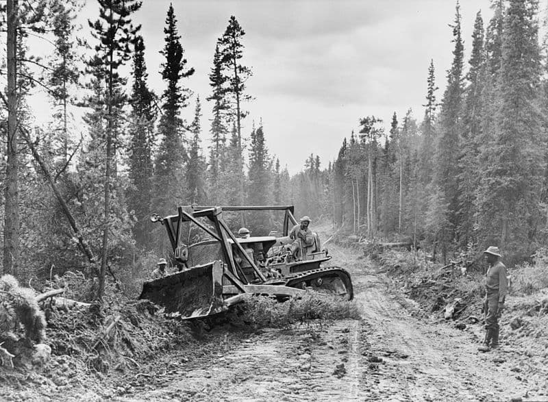 Original Alcan Highway Construction