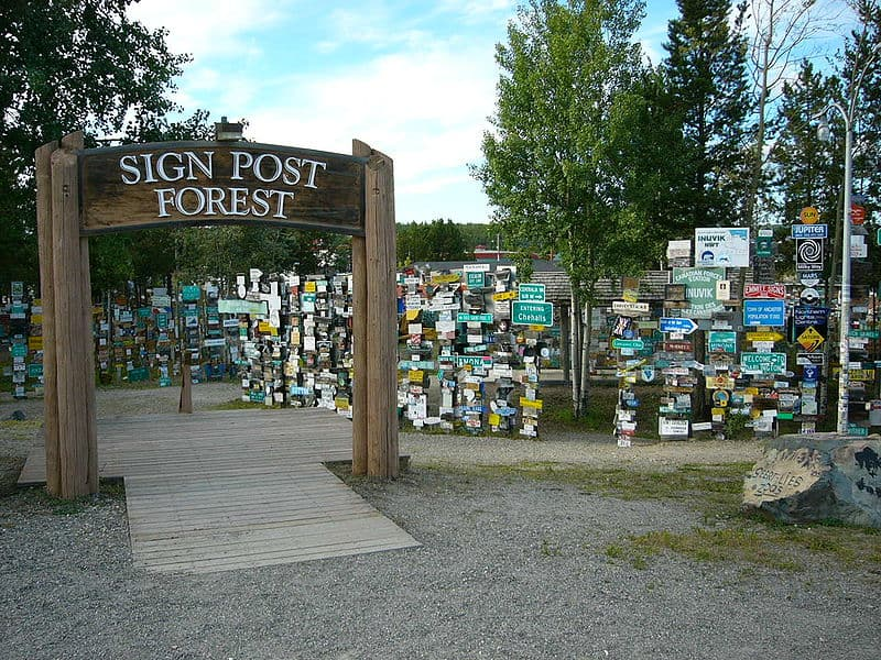 Watson Lake Sign Post Forest in Canada