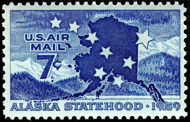 Alaska statehood commemorative stamp