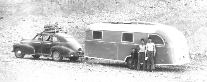 Gough family on the Alcan, 1947