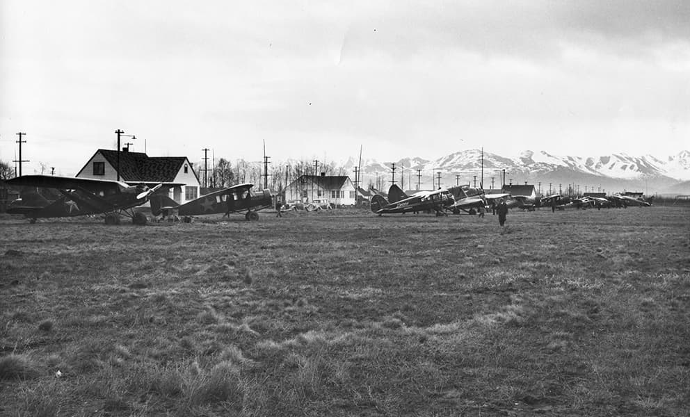 Anchorage's first air strip