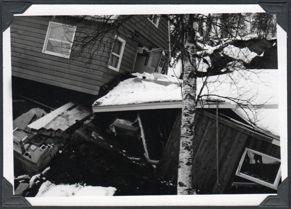 Incredible damage to homes in the Great Alaskan 1964 quake