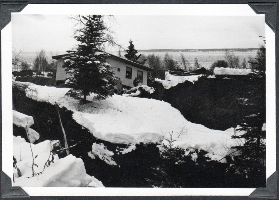 House after 64' earthquake, Anchorage