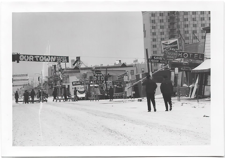 Anchorage, Alaska in 1964 after the Good Friday earthquake