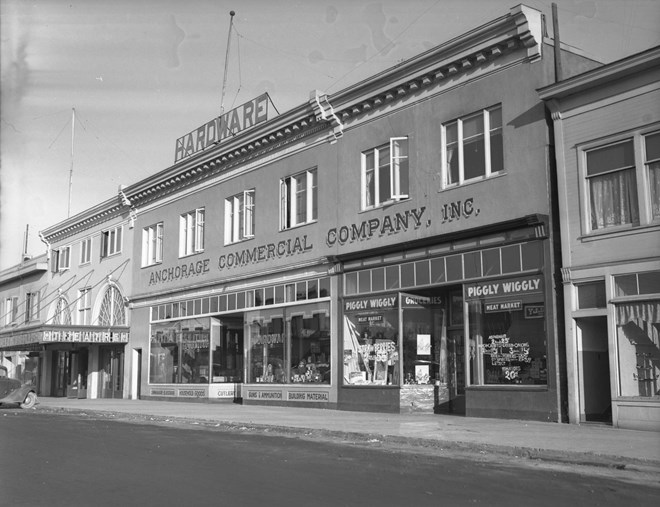 Anchorage Alaska Facts. The first chain grocery store in Anchorage was Piggly Wiggly. AnchorageMemories.com