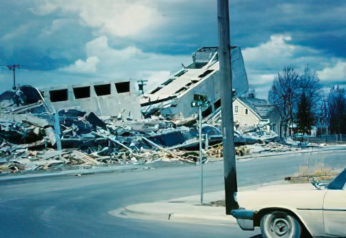 Four Seasons apartment building, still under construction, was destroyed during the 1964 quake