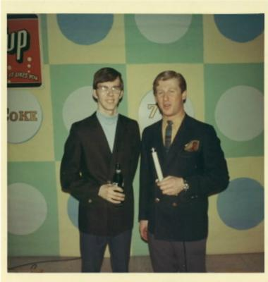 Mike on the right with Roger Latham