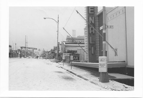 Amazing destruction on 4th Avenue in Anchorage following the Great Alaskan earthquake in 64'