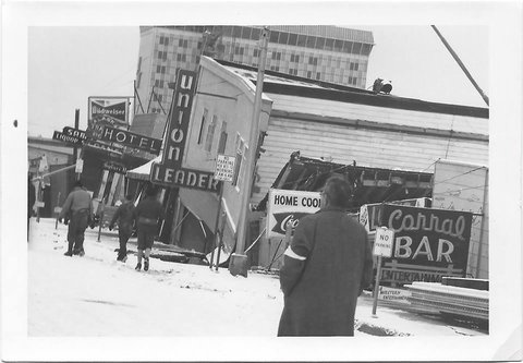 1964 Alaska earthquake destruction of businesses in Anchorage