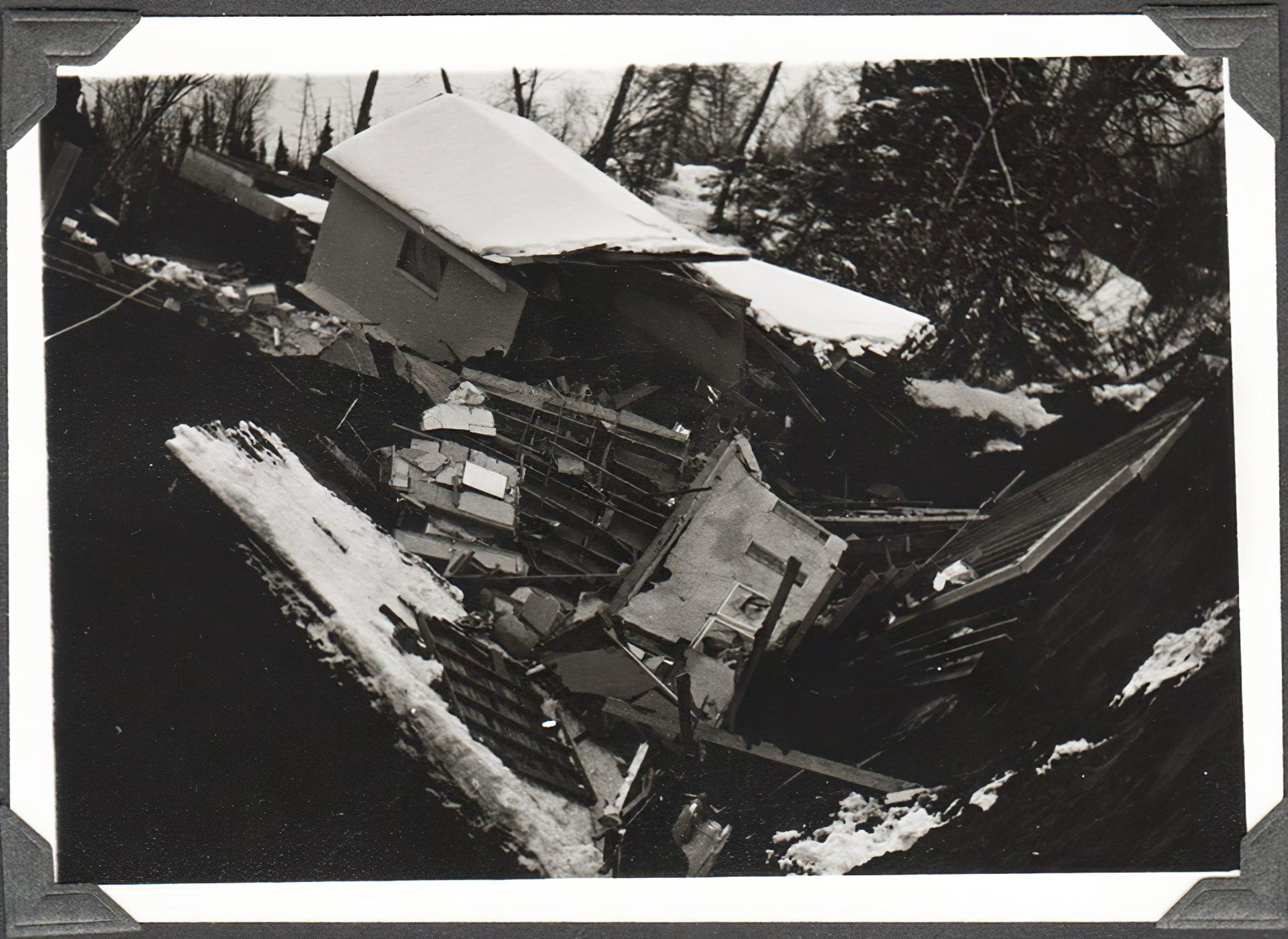 Anchorage 1964 earthquake damage