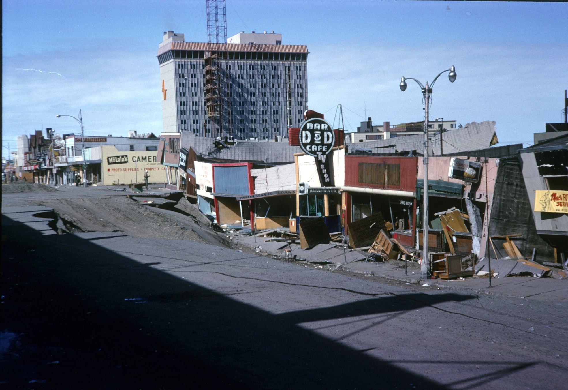 4th Avenue, Anchorage following the 1964 Alaska earthquake.
